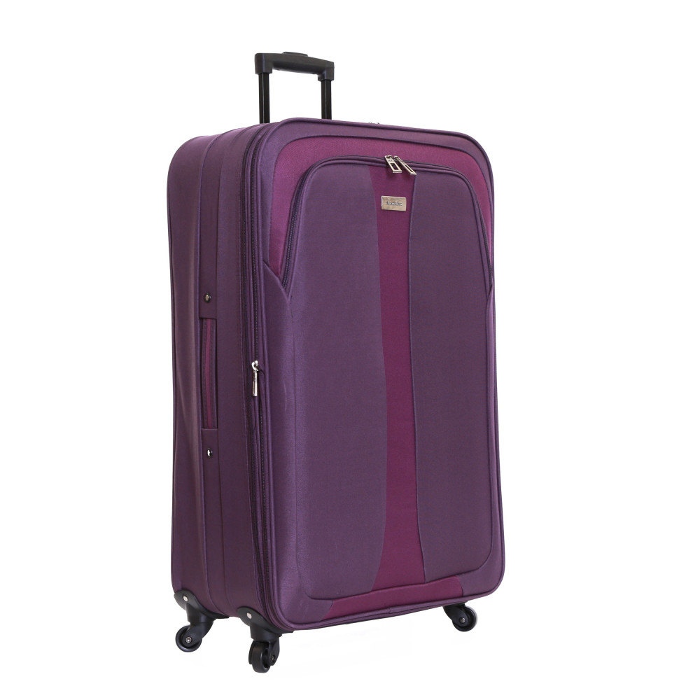 Slimbridge Andalucia Set of 2 Expandable Suitcases, Plum Large