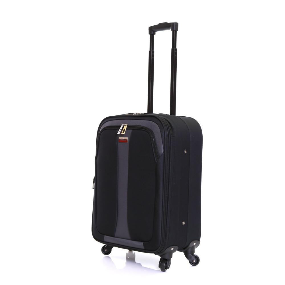 Slimbridge Andalucia Expandable Cabin Suitcase, Black Front