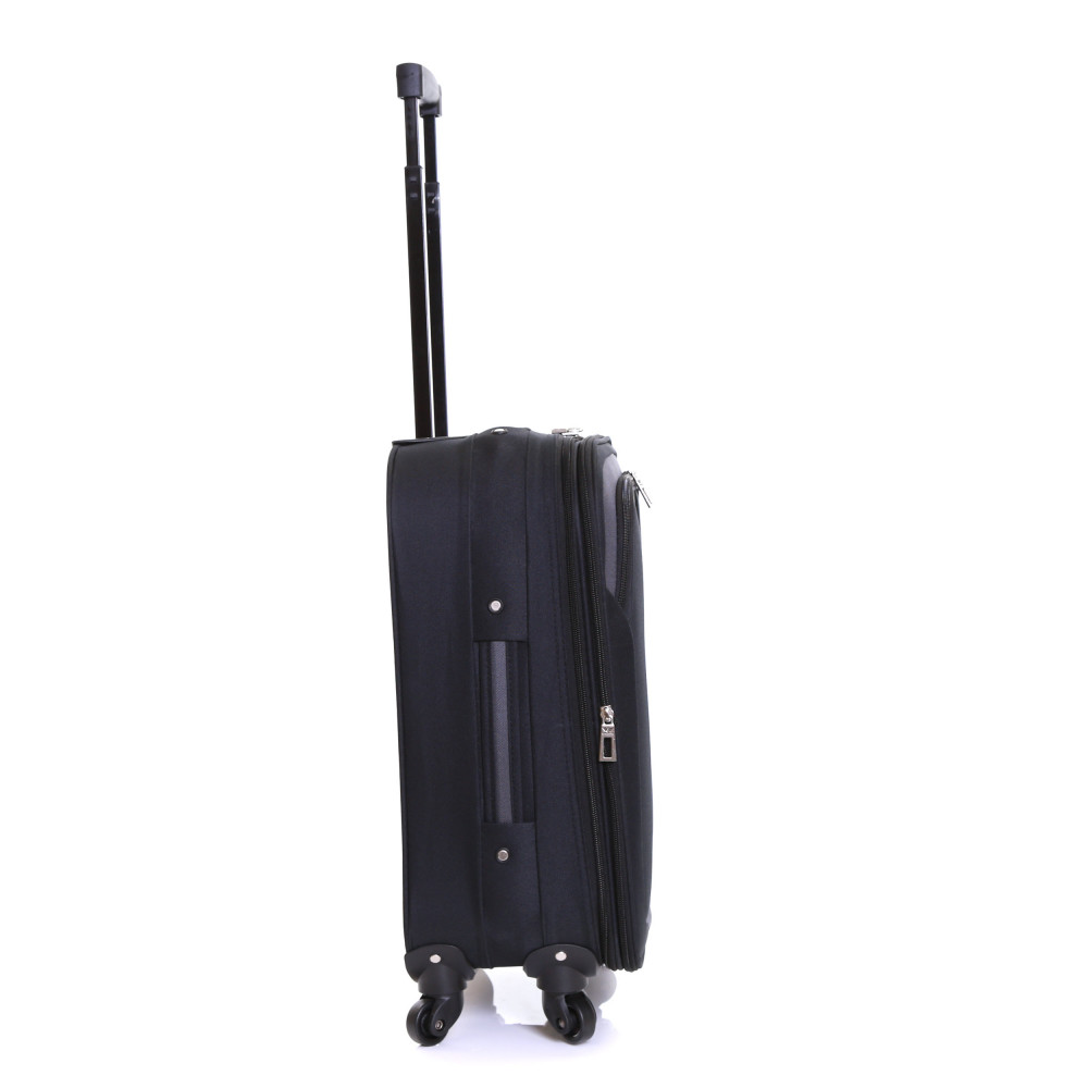 Slimbridge Andalucia Set of 2 Expandable Suitcases, Black Carry-On Side