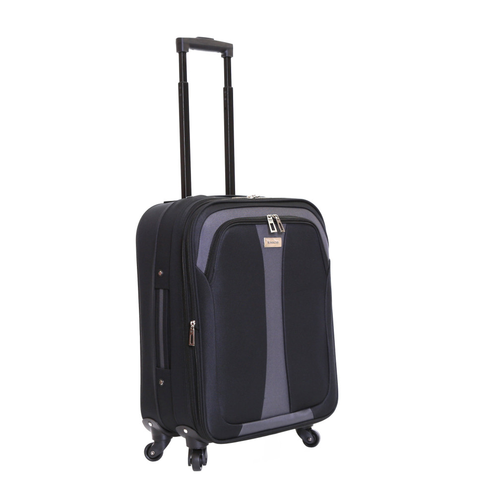 Slimbridge Andalucia Set of 2 Expandable Suitcases, Black Carry-On