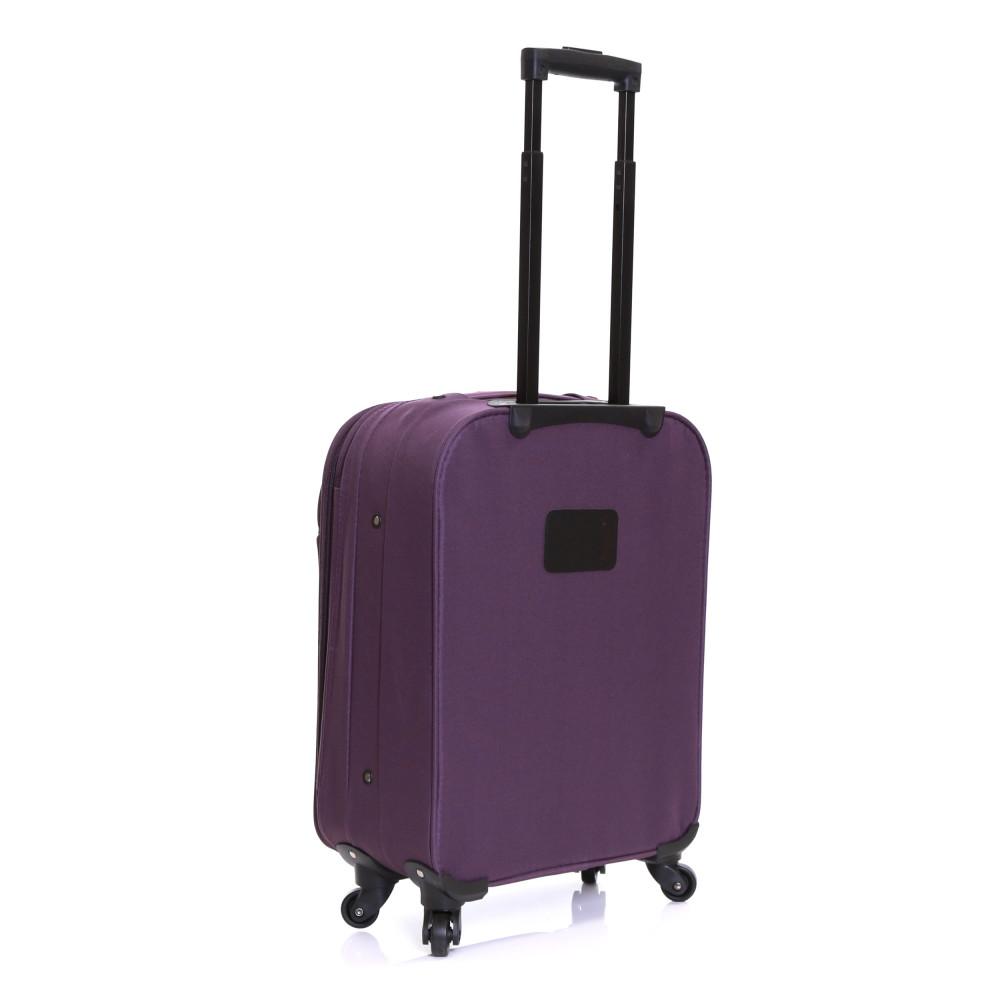 Slimbridge Andalucia Expandable Cabin Suitcase, Plum Back