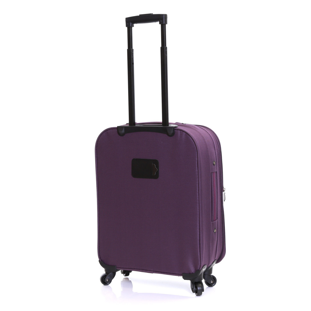 Slimbridge Andalucia Set of 2 Expandable Suitcases, Plum Carry-On Back