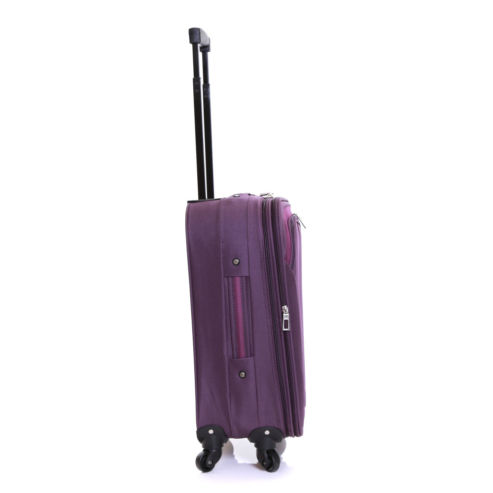 Slimbridge Andalucia Set of 2 Expandable Suitcases, Plum Carry-On Side