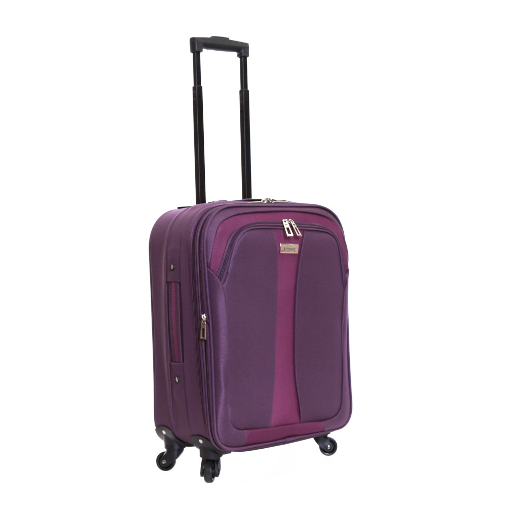Slimbridge Andalucia Set of 2 Expandable Suitcases, Plum Carry-On