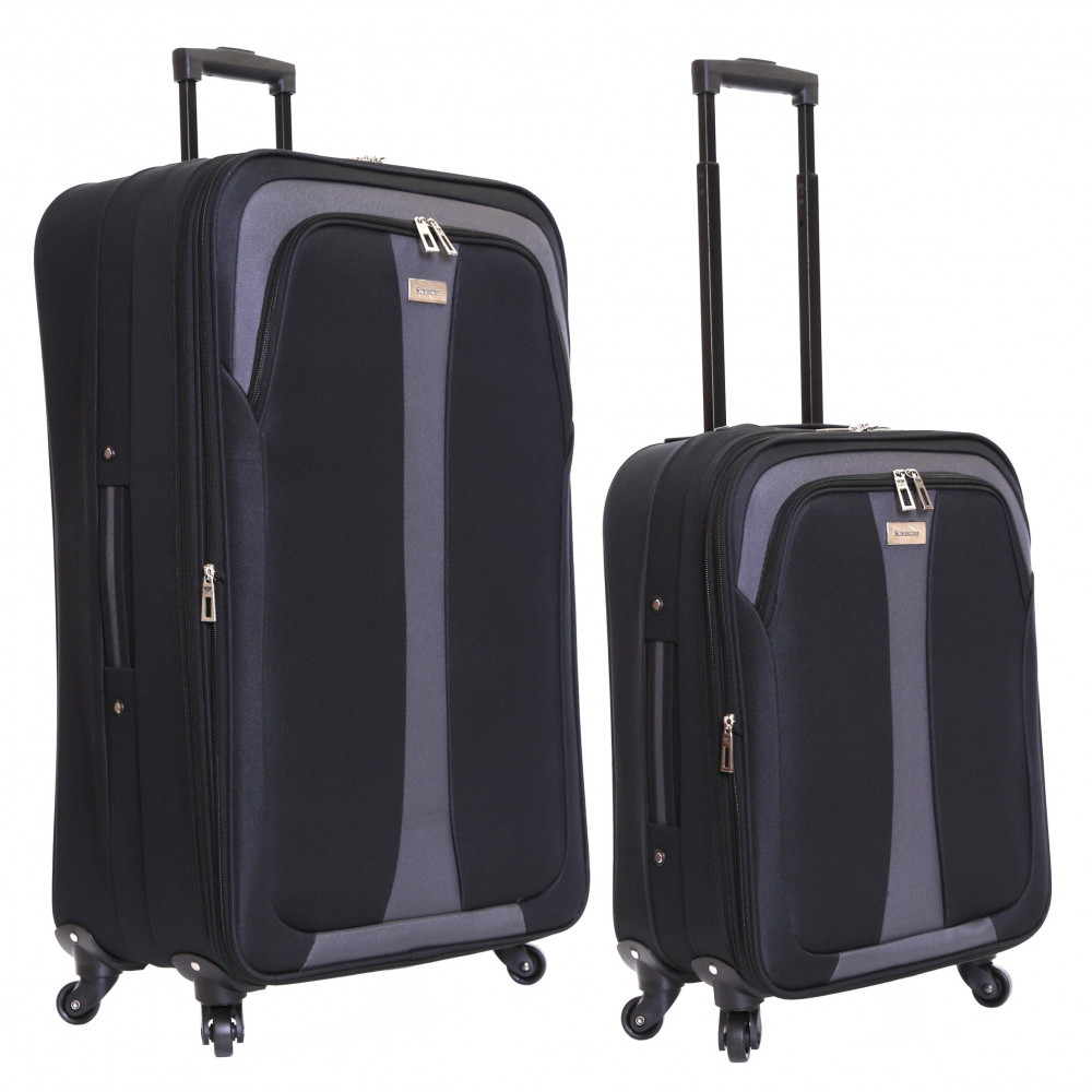 Slimbridge Andalucia Set of 2 Expandable Suitcases, Black