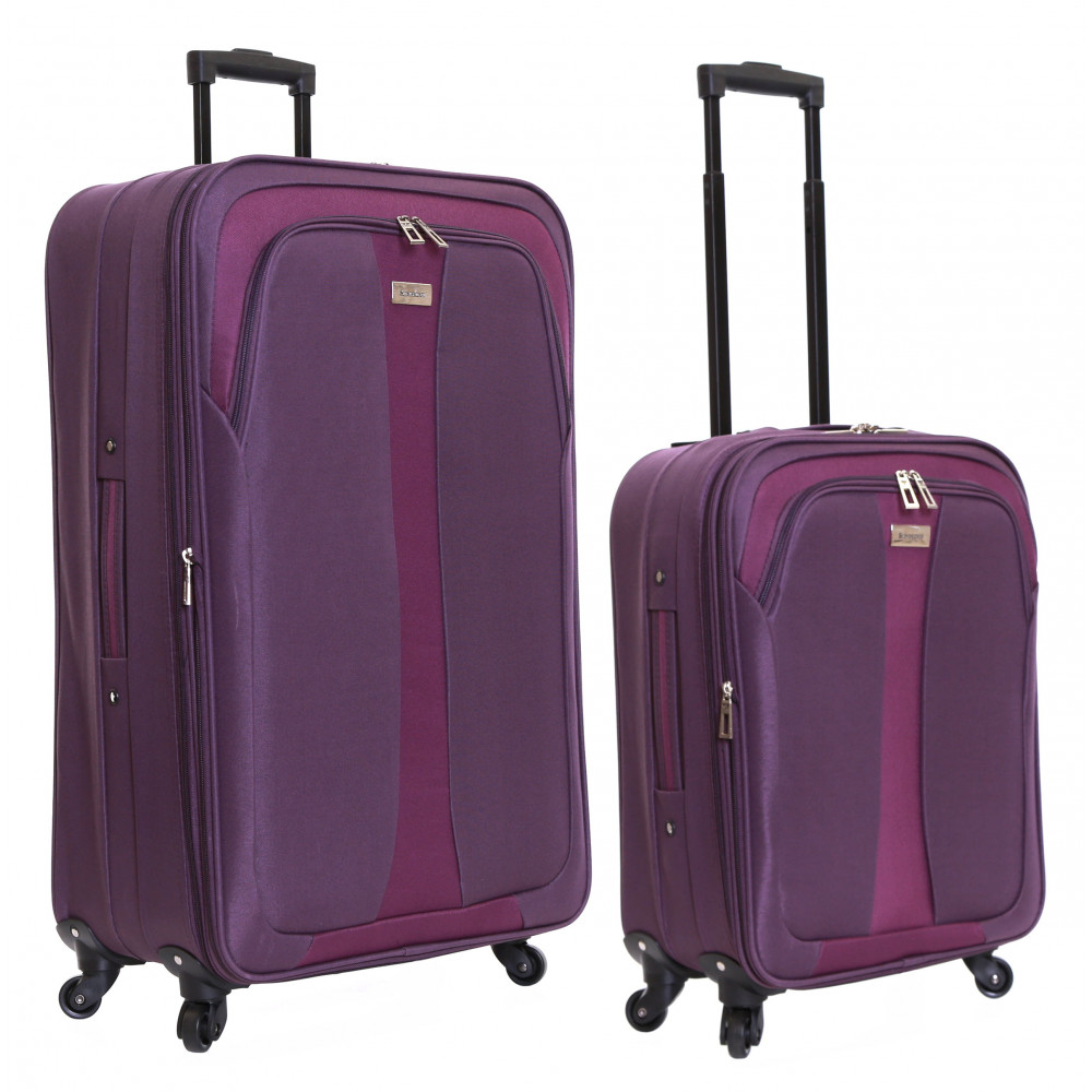 Slimbridge Andalucia Set of 2 Expandable Suitcases, Plum
