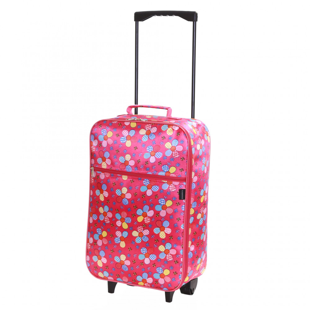 Slimbridge Barcelona Kids Cabin Approved Trolley Bag, Pink