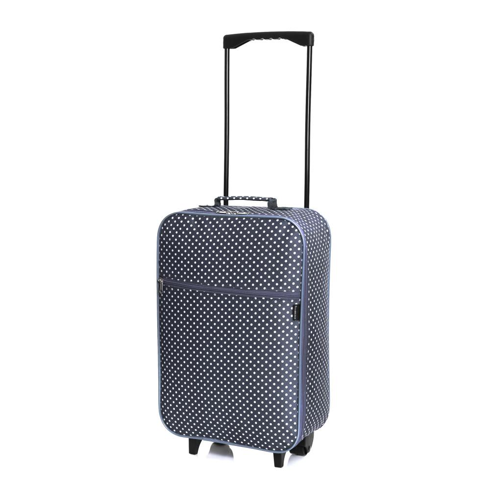 Slimbridge Barcelona Cabin Bag, Navy Dots