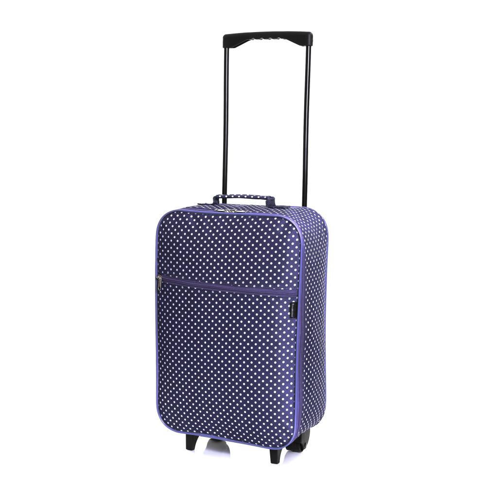 Slimbridge Barcelona Cabin Bag, Purple Dots