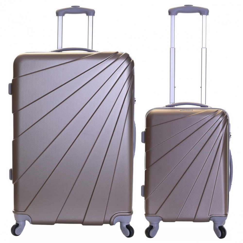Slimbridge Fusion Set of 2 Hard Suitcases, Champagne