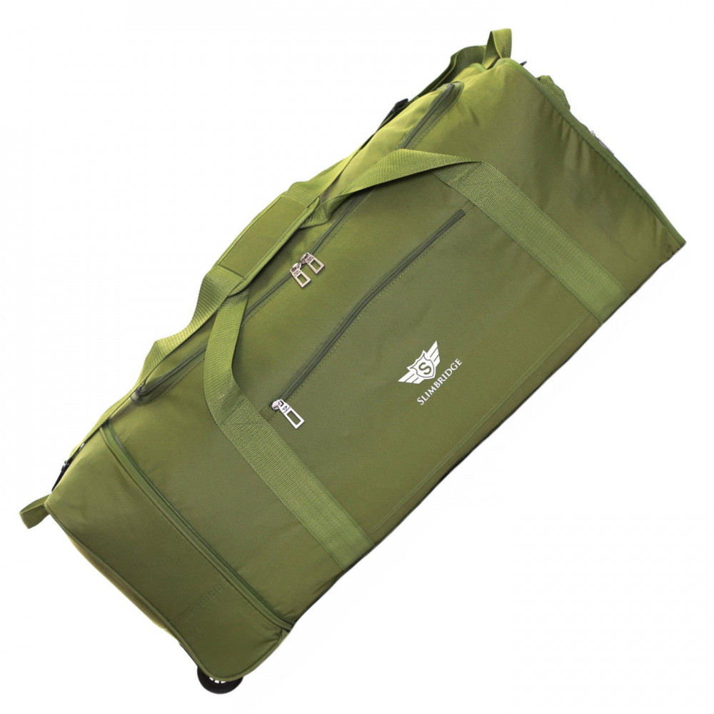 Slimbridge Havant 80 cm Foldable Wheeled Bag, Khaki