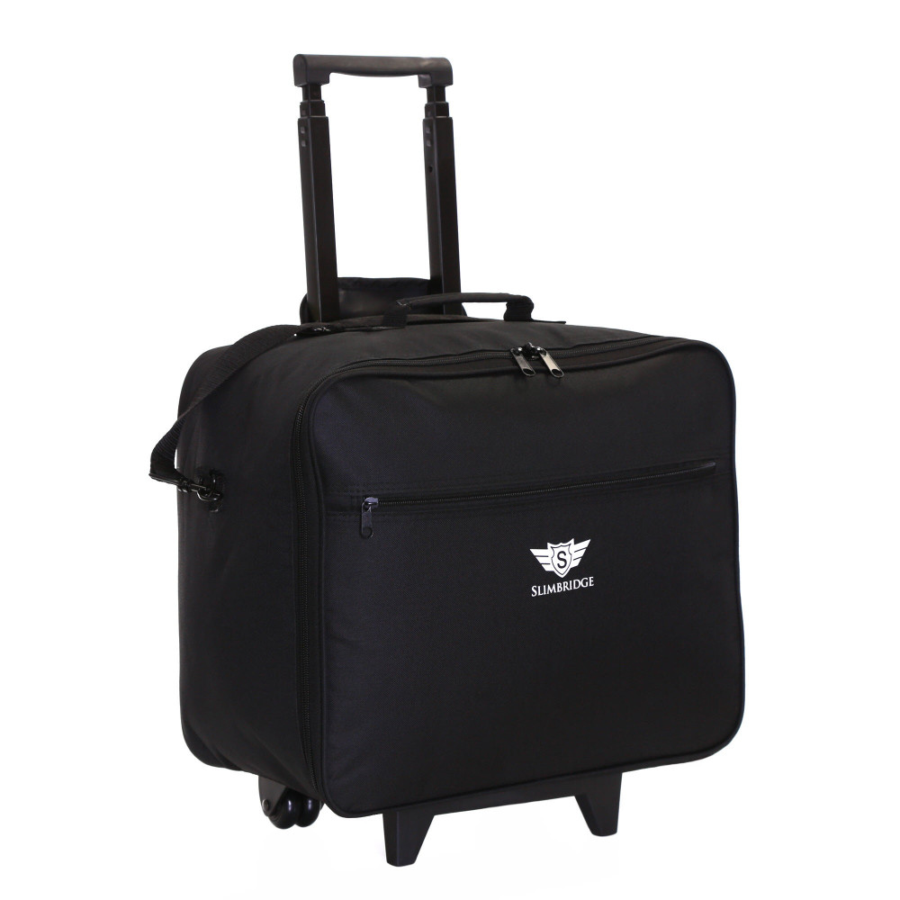 Slimbridge Kalmar Wheeled Laptop Case, Black