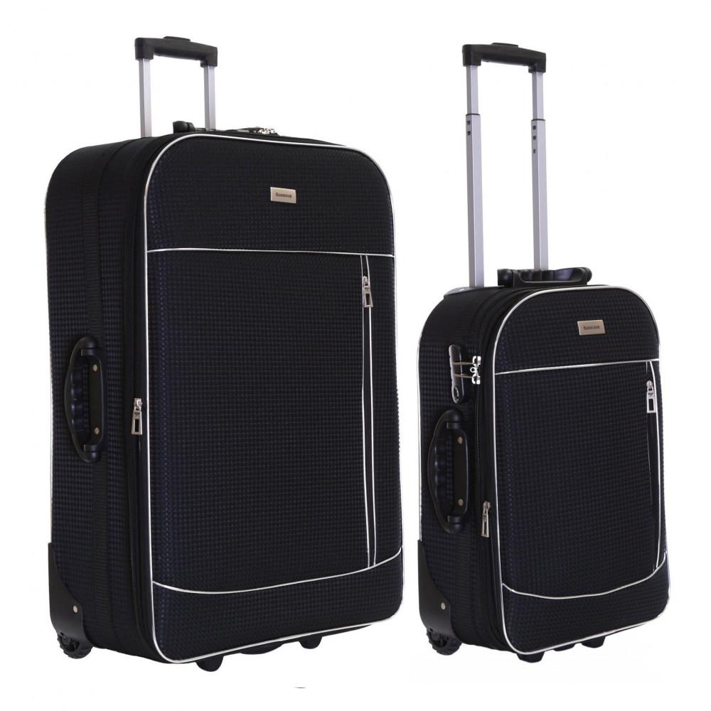 Slimbridge Rennes Set of 2 Expandable Suitcases, Black